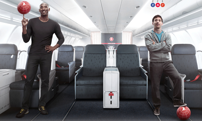 Kobe Bryant vs Lionel Messi – Legends on Board, Turkish Airlines ...